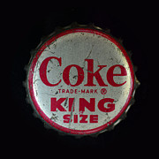 Bottle Cap Prints - Vintage Coca Cola Bottle Cap Print by Paul Ward