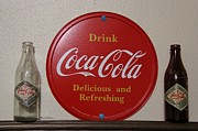 Coca-cola Signs Art - Vintage Coca Cola Bottles  by Yumi Johnson
