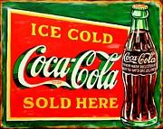 Vintage Coca-cola Sign Print by Karl Wagner