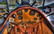Controls Framed Prints - Vintage Cockpit - Flight Instruments Framed Print by Lee Dos Santos