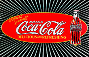 Coca-cola Sign Art - Vintage Coke by Digital Reproductions