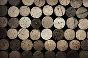 Bordeaux Art - Vintage corks by Jane Rix
