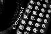 Typewriter Keys Framed Prints - Vintage Corona Four Typewriter Framed Print by Jon Woodhams