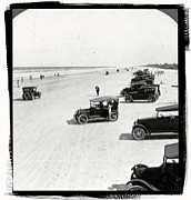 Ford Model T Car Photo Prints - Vintage Daytona Beach Florida Print by Unknown