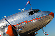 Dc-3 Plane Framed Prints - Vintage DC-3 Airplane Framed Print by Raul Rodriguez