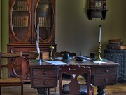 Pens Photos - Vintage Desk by Jane Linders