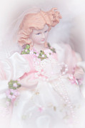 Vinatge Prints - Vintage Doll for Xmas Time 1 Print by Jenny Rainbow