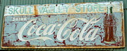 Coca-cola Sign Art - Vintage Drink Coke Sign by Lin Haring