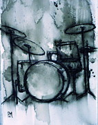 Pete Maier Framed Prints - Vintage Drums II Framed Print by Pete Maier
