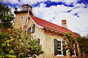 Vintage Eagle Bluff Lighthouse Print by Shutter Happens Photography