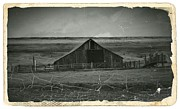 Old Barns Mixed Media - Vintage Eastern Oregon Barn by Chalet Roome-Rigdon