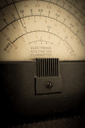 Electronics Posters - Vintage Electric Meter Poster by Edward Fielding