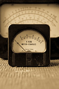Power Photo Metal Prints - Vintage Electrical Meters Metal Print by Edward Fielding