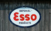 Collects Photo Framed Prints - Vintage Esso Sign Framed Print by Paul OToole