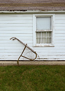 Dilapidated House Photos - Vintage Farm Tool by Farmhouse by Jill Battaglia