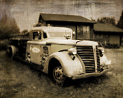 Truck Digital Art - Vintage Fire Truck by Perry Webster