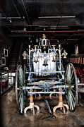 Hall Digital Art Prints - Vintage Fire Wagon Print by Bill Cannon
