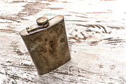 Bottle Photos - Vintage Flask by Olivier Le Queinec