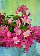 Vintage Floral Print by Carla Parris