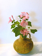 Kathie Mccurdy Prints - Vintage Flower Pot Print by Kathie McCurdy