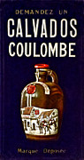 Bottle Photos - Vintage French Poster Calvados Coulombe by Olivier Le Queinec