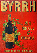 Advertisement Prints - Vintage French Tin Sign Byrrh Print by Olivier Le Queinec