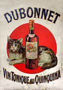 Advertisement Prints - Vintage French Tin Sign Dubonnet Print by Olivier Le Queinec