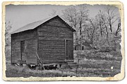 Sheds Prints - Vintage Frosty Morning 2 Print by Chalet Roome-Rigdon