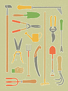 Yardwork Framed Prints - Vintage Garden Tools Framed Print by Mitch Frey