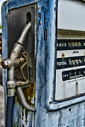Fill Posters - Vintage Gas Pump 2 Poster by Paul Ward