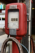 Inflation Photo Prints - Vintage Gas Station Air Pump 1 Print by Paul Ward