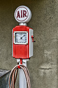 Inflation Framed Prints - Vintage Gas Station Air Pump 2 Framed Print by Paul Ward