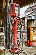 Inflation Photo Prints - Vintage Gas Station Air Pump 3 Print by Paul Ward