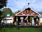 Pumps Prints - Vintage Gas Station Print by Bill Cannon