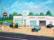 Service Station Paintings - Vintage Gas Station by Todd Bandy