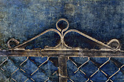 Scroll Mixed Media - Vintage Gate - Fence - Chain Link - Texture - Abstract by Andee Photography