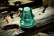 Wiring Prints - Vintage Glass Insulator Print by Cheryl Young