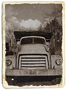 Gmc Mixed Media Posters - Vintage GMC Truck Sepia 2 Poster by Chalet Roome-Rigdon