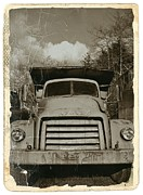 Gmc Mixed Media Posters - Vintage GMC Truck Sepia Poster by Chalet Roome-Rigdon