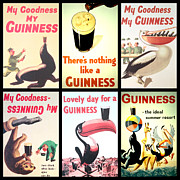 Food And Beverage Digital Art Prints - Vintage Guinness  Print by Nomad Art And  Design