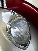 Retro Car Photos - Vintage Headlamp by Carol Leigh