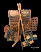Hockey Mixed Media Metal Prints - Vintage Hockey Equipment #2 Metal Print by Spencer Hall