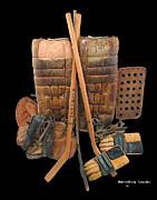 Vintage Hockey Equipment #2 Print by Spencer Hall