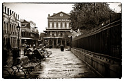 Benches Photos - Vintage Jackson Square by John Rizzuto