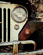 Manly Posters - Vintage Jeep Willys Rusty Classic Car Poster by Lisa Russo