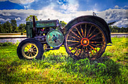 Old Country Roads Prints - Vintage John Deere Print by Debra and Dave Vanderlaan
