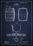 Vintage Keg Or Barrel Patent Drawing From 1898 Print by Aged Pixel