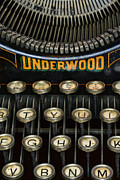 Underwood Typewriter Framed Prints - Vintage Keyboard Framed Print by Paul Ward