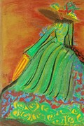 Gown Painting Originals - Vintage Lady by Sylvia Masri