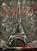 Vintage L'amour A Paris Print by Teshia Art